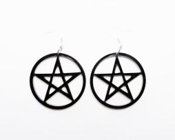 pentagramearrings
