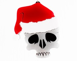 festive skull necklace2