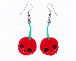 skull-cherry-earrings