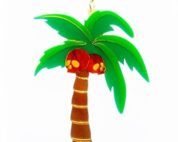 gothic palmtree necklace