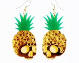 skull pineapple earrings