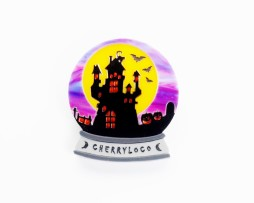 Haunted globe brooch 1