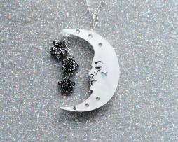 reverse moon pendant
